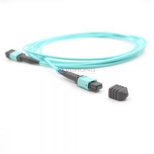 OM3 50/125um Multimode Standard Loss 3.0mm Trunk cable LSZH Aqua 10ft 40G MPO Cable Patchcord