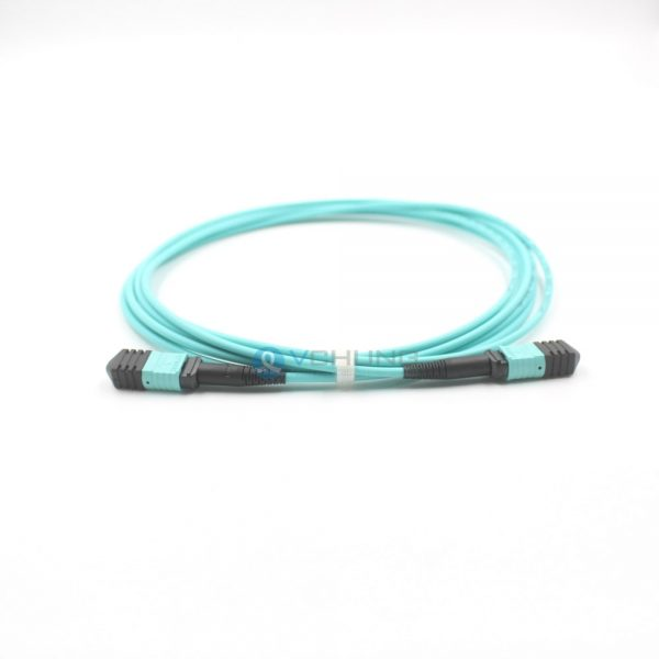 OM3 50/125um Multimode Standard Loss 3.0mm Trunk cable LSZH Aqua 10ft 40G MPO Cable Patchcord