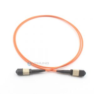 MPO Female to MPO Female 12 cores OM1 62.5/125um Multimode trunk(Round) cable LSZH Orange