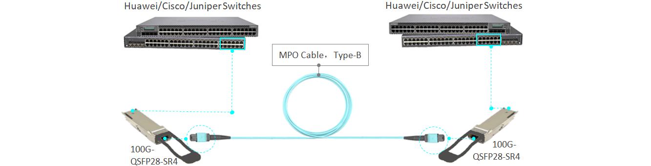 MTP/PC to MTP/PC OM3 Multimode Low Loss IL0.35dB 24cores LSZH Aqua Color 3.0mm Trunk Cable