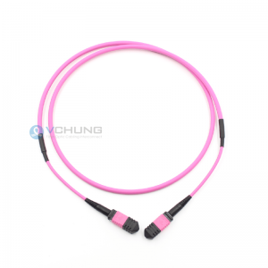 MPO Connector female pre-termimated cable 12 core OM4 fiber optical cable trunk 4.5mm LSZH IL=0.70dB max