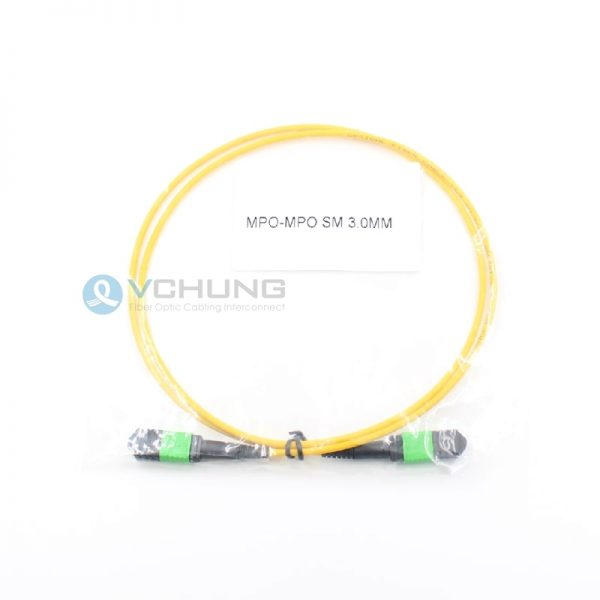 OS2 9/125um Single-mode Trunk cable Type B 12 core LSZH Yellow cable MPO Female to MPO Female connector