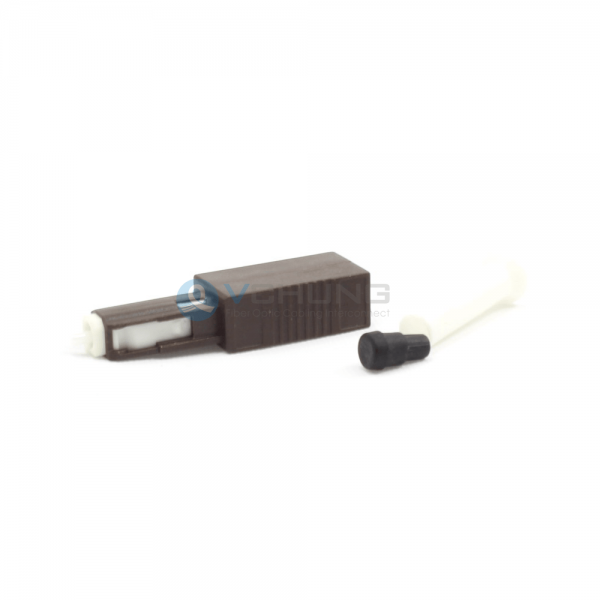 MU Plug Type Fixed Male to Female From 1dB to 30dB Singlemode Fiber Optic Attenuator With Brown Housing Color