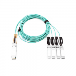 For Cisco QSFP-4SFP25G-AOCxxM 100G QSFP28 to 4x25G SFP28 Breakout Active Optical Cable (AOC)
