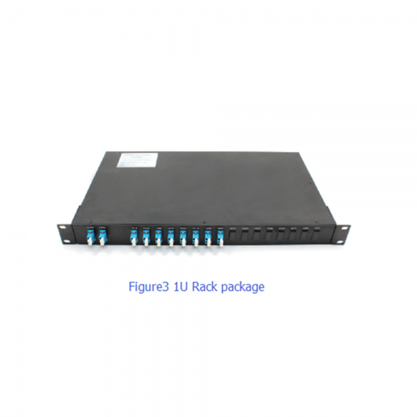 1x4, 1x8, 1x16,1x18 from 1270nm to 1610nm CWDM Mux Demux with LC connector ABS box package