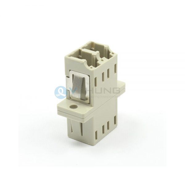 LC/UPC Duplex IL Less Than 0.20dB Beige Color Adapter With Flange(Welding Type)
