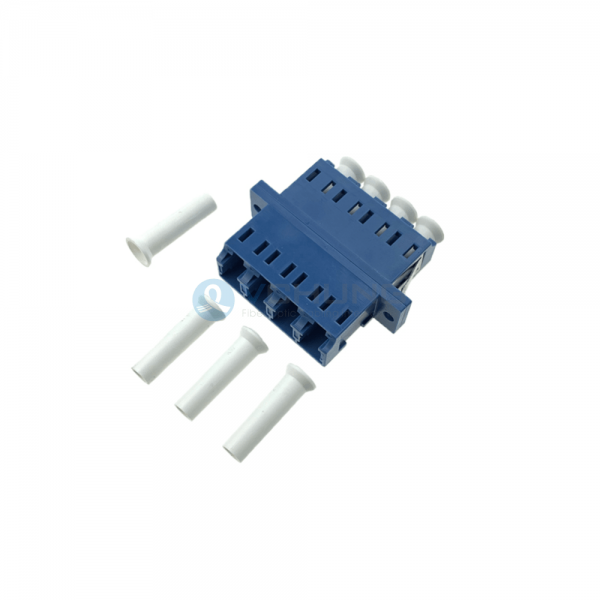LC UPC 4cores Singlemode Blue Color Optical Fiber Adapter With Flange(Welding Type)