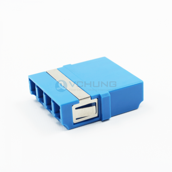 LC/UPC 4-Cores Adapter without flange single-mode Blue color One-piece Type