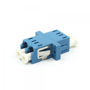 LC UPC Female to LC UPC Female Duplex Flange Singlemode Blue Color Fiber Optical Adapter(Welding Type)