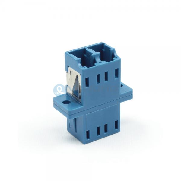 LC UPC Female to LC UPC Female Duplex Flange Singlemode Blue Color Fiber Optical Adapter(Welding Type)