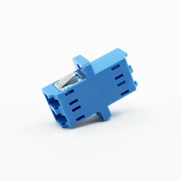 LC/UPC Duplex Singel-Mode Blue Color Fiber Optical Adapter(One-piece Type)