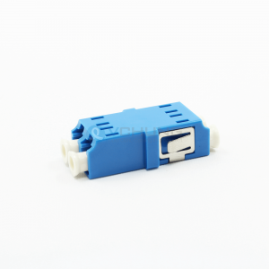 LC/UPC Duplex no Flange Singlemode Blue Color One-Piece Fiber Optical Adapter