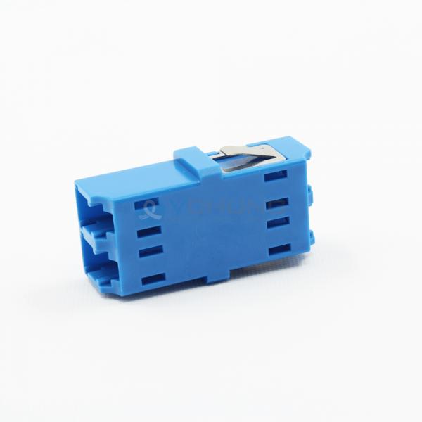 LC/UPC Duplex no Flange Singlemode Blue Color One-Piece Fiber Optical Adapter