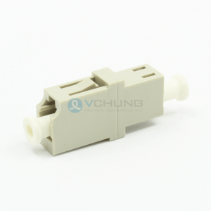LC PC Simplex without flange Beige color IL≤0.20dB Adapter (Welding Type)