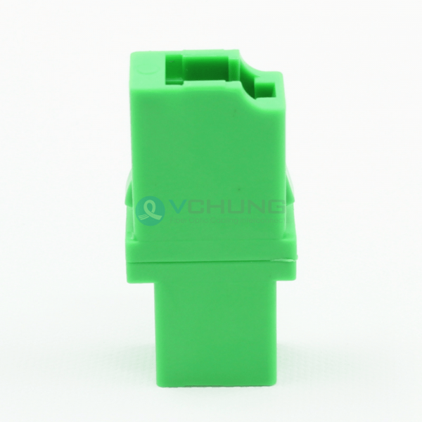 LC APC Single-Mode Green Color Simple no Flange Adapter(Welding Type)