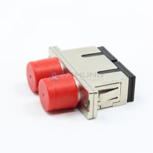 Fiber optical hybrid adapter female to female SC-FC duplex metal material