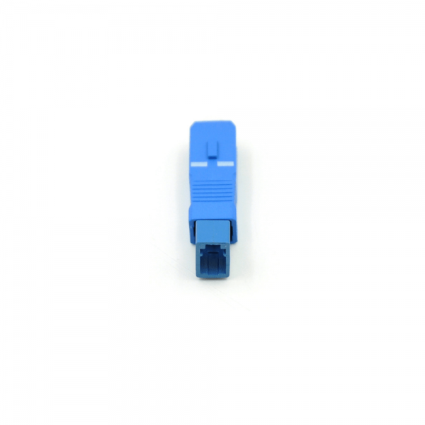 SC(Male) to LC(Female) Simplex Single-Mode Blue Color Fiber Optical Hybrid Adapter