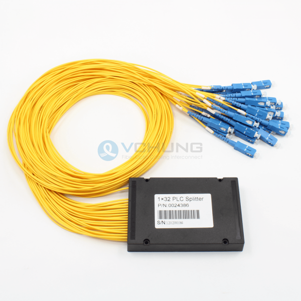 1x32 Channels 2.0mm Loose Tube and SC Connector ABS Box Package Planar Lightwave Circuit(PLCS)