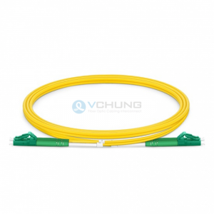 LC patchcord single-mode LC/APC green connnctor 2.0mm duplex LSZH yellow cable