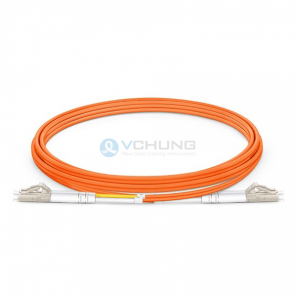 LC/UPC to LC/UPC OM1 62.5/125um 2.0mm Duplex LSZH Orange Jacket Optical Fiber Patch-Cord