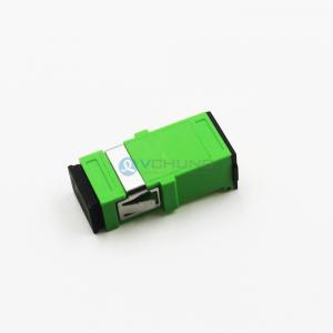 Simplex SC Shutter Adapter without flange Green singlemode Shutter adapter SC/APC