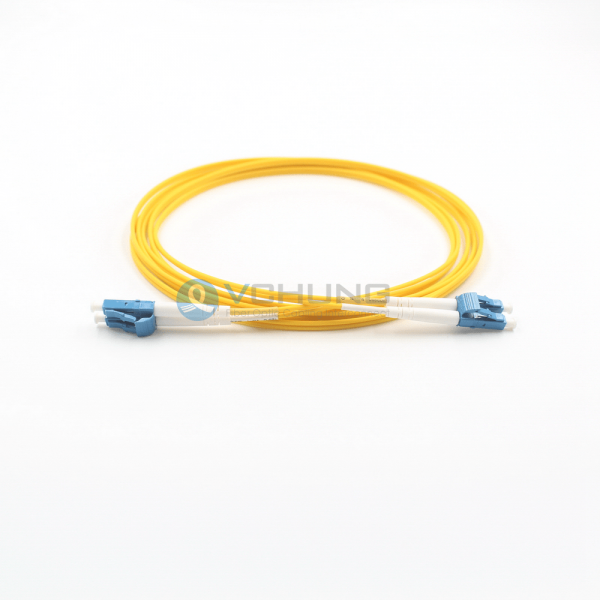 LC/UPC to LC/UPC Single-Mode Duplex LSZH Yellow Jacket 2.0mm Connnctor Patch-cord